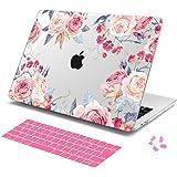 Batianda MacBook 12 インチ用保護ケース、 12 インチ MacBook Retina ハードケース & シリコン日本語キーボードカバー & ダストプラグ付きシェルカバー (A1534),花