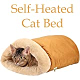 Pet Magasin Self Warming Cat Thermal Bed - Cave Style - Luxury Four-Way Snuggly Cat Hideaways