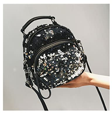 Women Mini Sequins Backpack Fashion Shoulder Bag For Girls Bling Shiny Backpack Bag Mochila Feminina Escolar