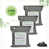 OK5STAR Charcoal Air Purifiers, Bamboo Charcoal Odor Absorber | Natural Air Refresher for Odors and Moisture | Odor Eliminator for Basement, Garage, Trucks RV, 600gx3pack