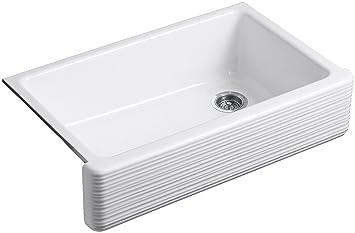 kohler k63510 whitehaven hayridge under mount singlebowl kitchen sink with