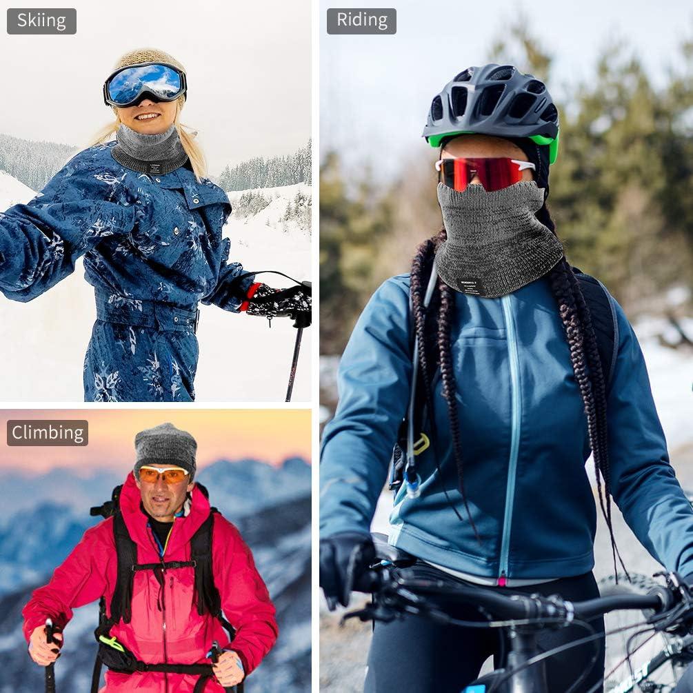 VBIGER Sciarpa Uomo Donna Invernale Scaldacollo Multifunzione per allaperto Snowboard Ciclismo Moto Sci Trekking