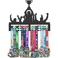 GENOVESE Colgador de Medallas, Metal de Acero Negro, Montaje en Pared 50 Medallas