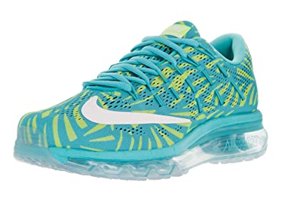 on sale c6f4d 18ecf Nike Women s WMNS Air Max 2016 Print, Gamma Blue White - Ghost Green,
