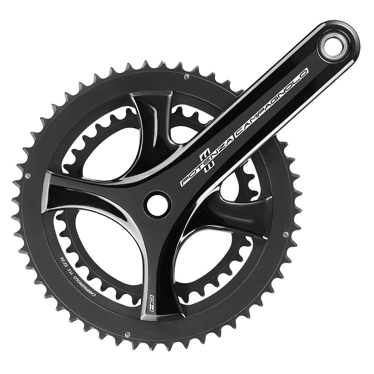 Campagnolo Potenza Ho UT 11-speed自転車Crankset – fc18-po B073116H8B 170x34/50(FC18-PO040)|ブラック ブラック 170x34/50(FC18-PO040)