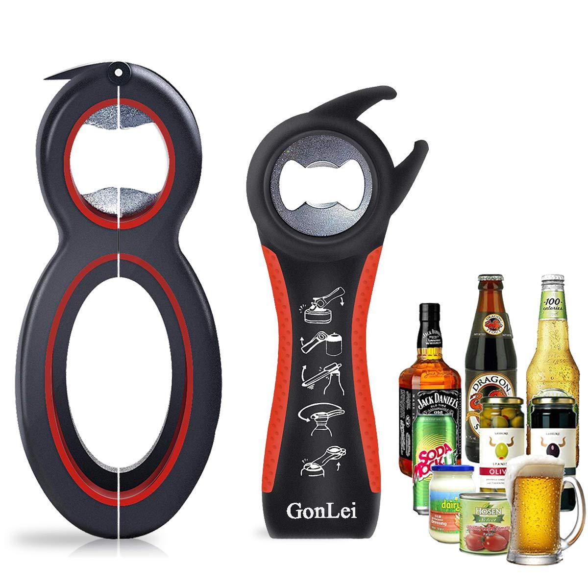 6in1 Multi-Tool Bottle Soda Soup Can Jelly Jar Beer Opener Twist off kA