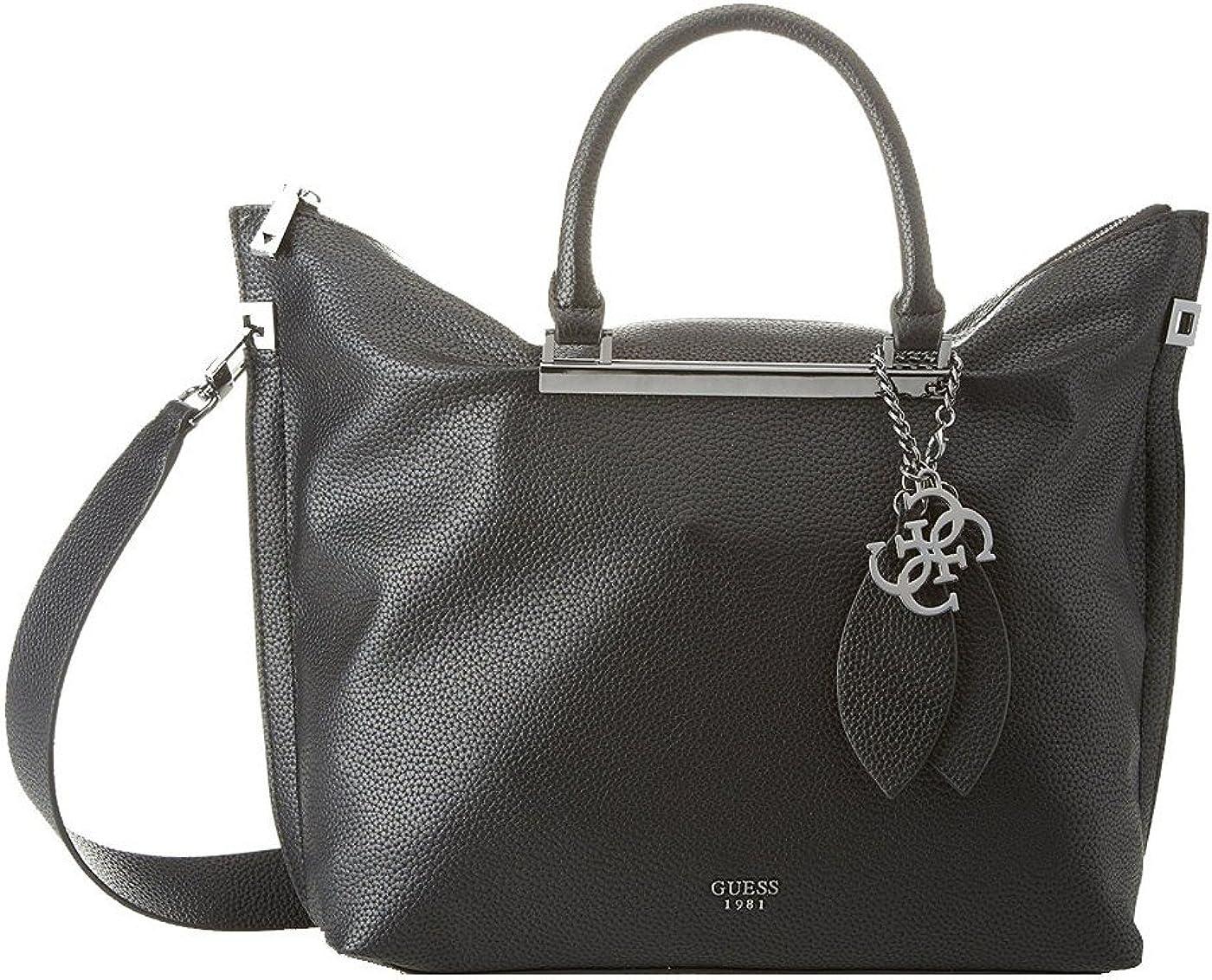Guess Grand sac à main Lou Lou Noir: : Vêtements et