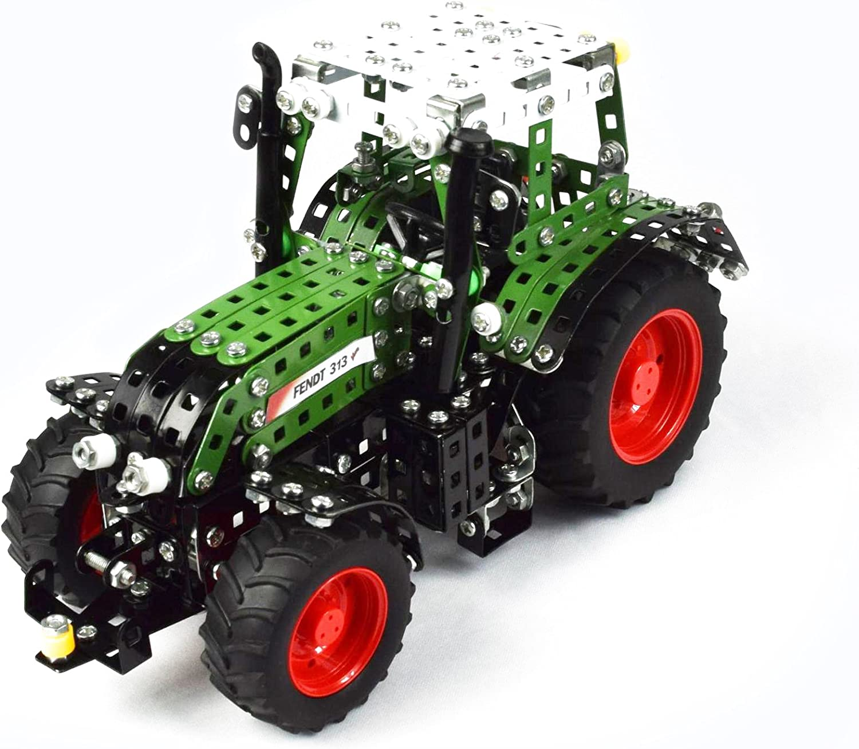 Tronico 10067 Ma/ßstab 1:24 Metallbaukasten Traktor Fendt 313 Vario gr/ün Junior Serie 735-teilig