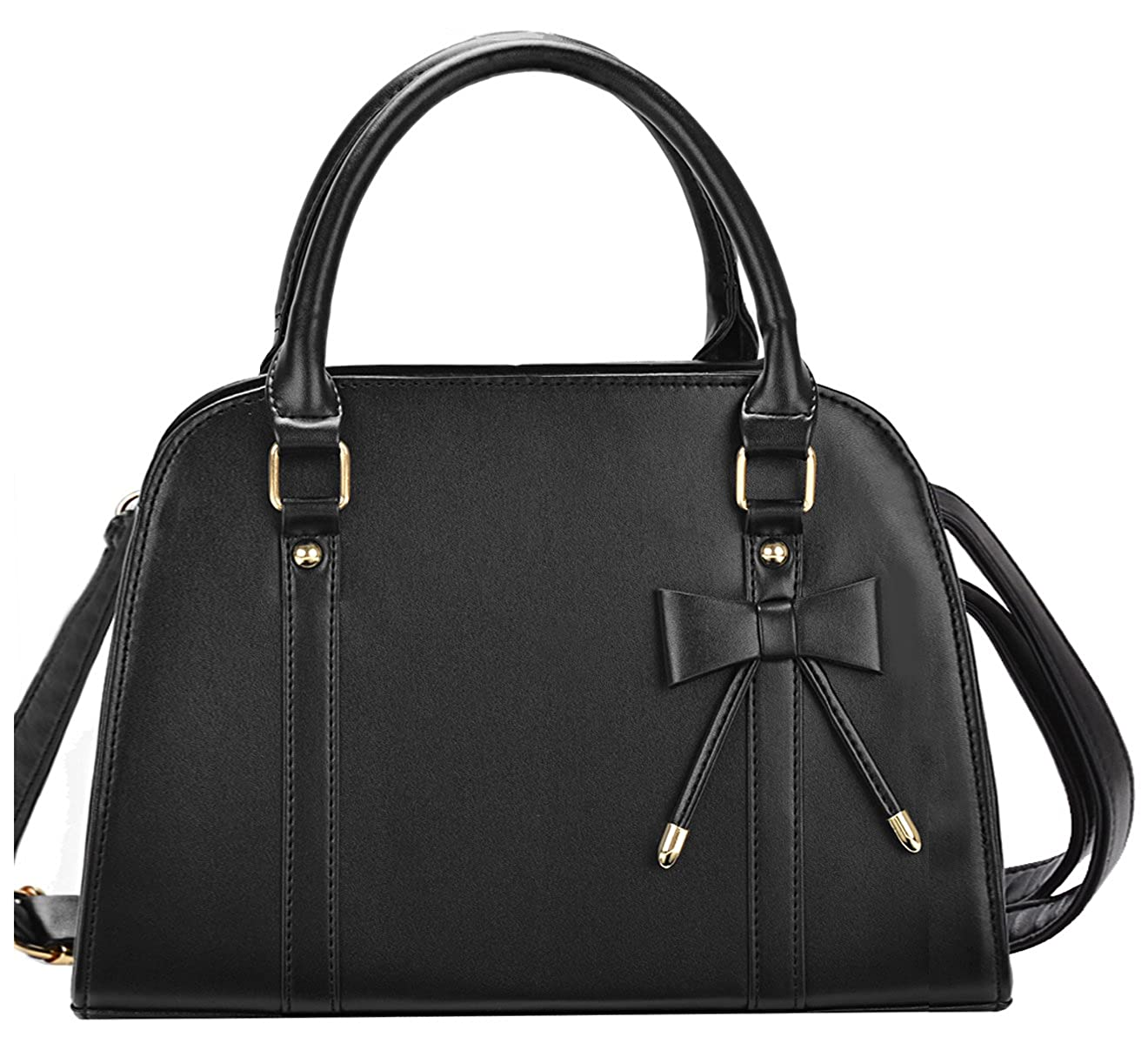 Amazon.com  COOFIT Lady Handbag Little Bow Leisure Top-Handle Bags Shoulder  Bag Purse (Black)  Clothing 7b486eda66a81