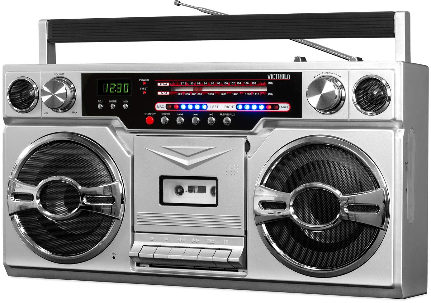 Victrola VBB-10-SLV 1980's Bluetooth Boombox with: Amazon.in: Electronics