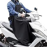 LOETAD Cubre Piernas para Moto Universal Manta para Scooter Impermeable Oxford - Color Negro