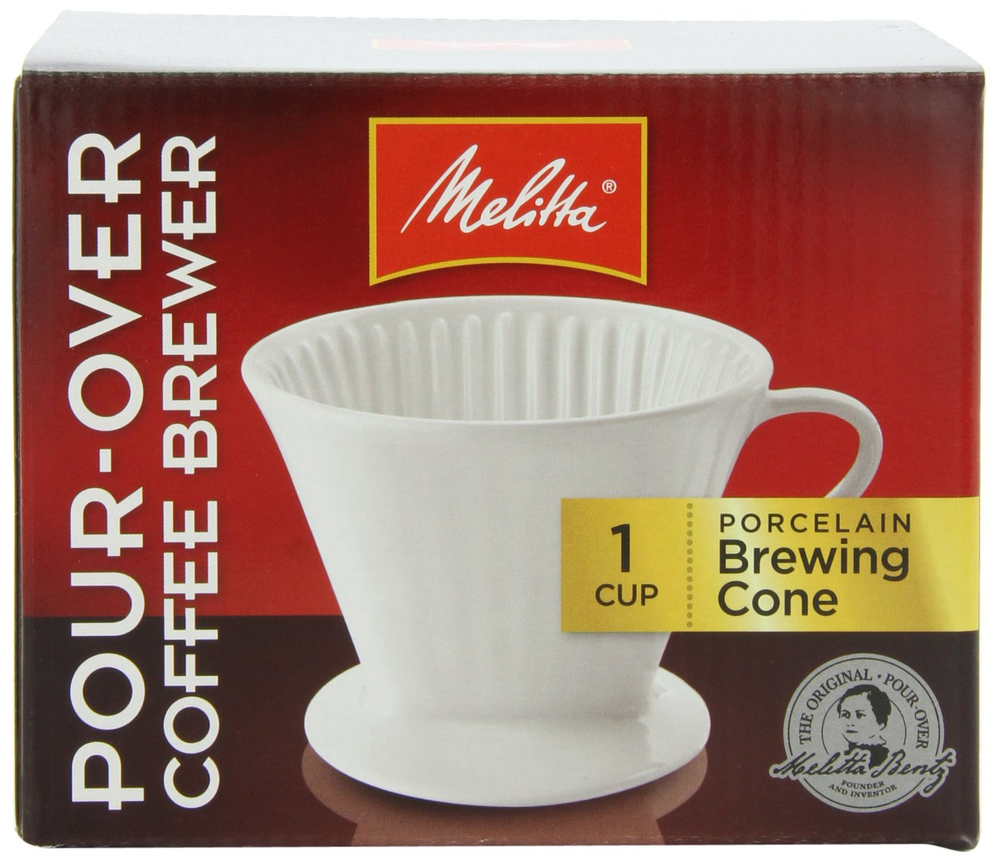 Melitta Coffee Maker Single Cup Pour Over Brewer Black Pack of 8