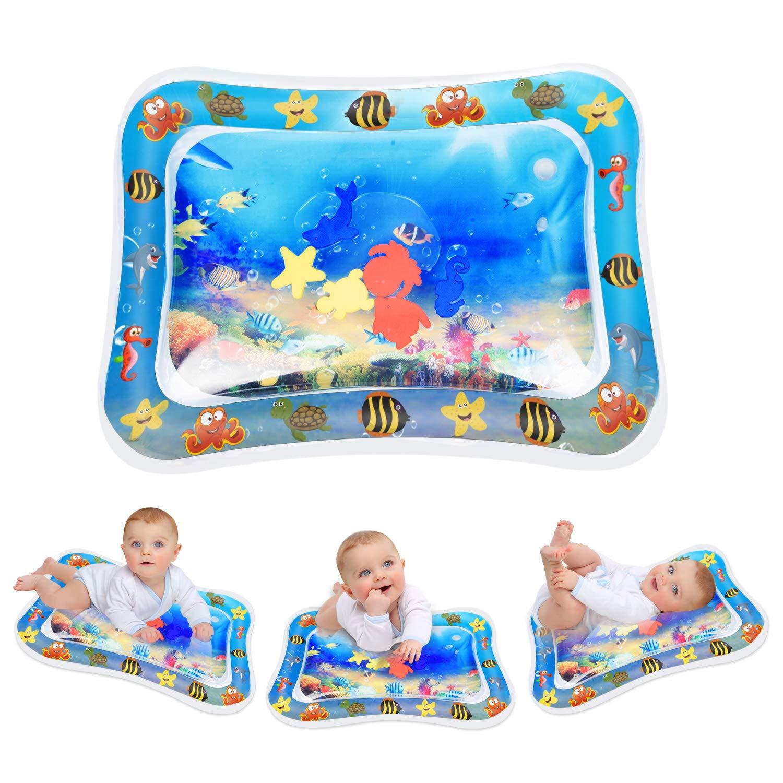 Aufblasbare Wassermatte Baby Spa/ßaktivit/äten Das Stimulationswachstum Ihres Babys Keten Bauch Zeit Auslaufsicheres PVC Wassergef/üllte Spielmatte f/ür Baby Spielzeuge 3 6 9 Monate 26 x 20