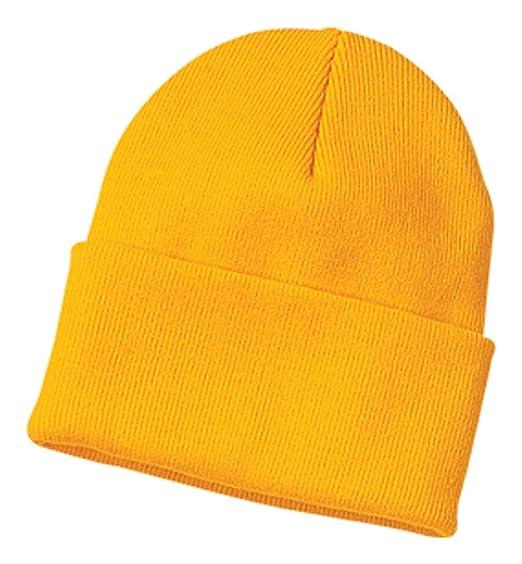 Amazon.com  Port   Company Knit Cap (CP90) Hat Athletic Gold  Clothing 8ecade58830