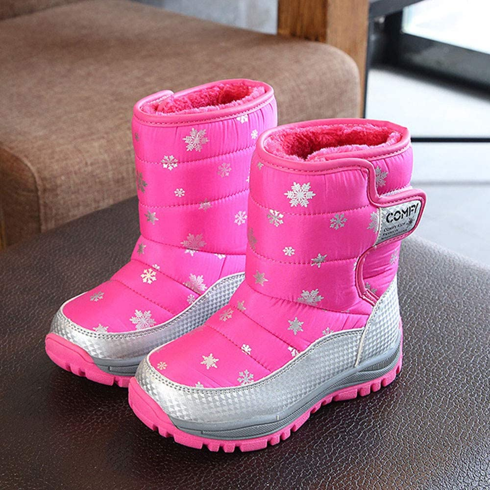 Goodtrade81 Children Snow Boots Baby Girl Boy Shoes Winter Fashion Kids Students Sneakers Bootie