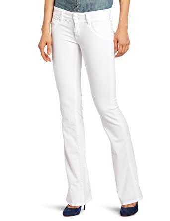 Hudson Jeans Women's Tall Signature-Boot Supermodel Jean In White ...