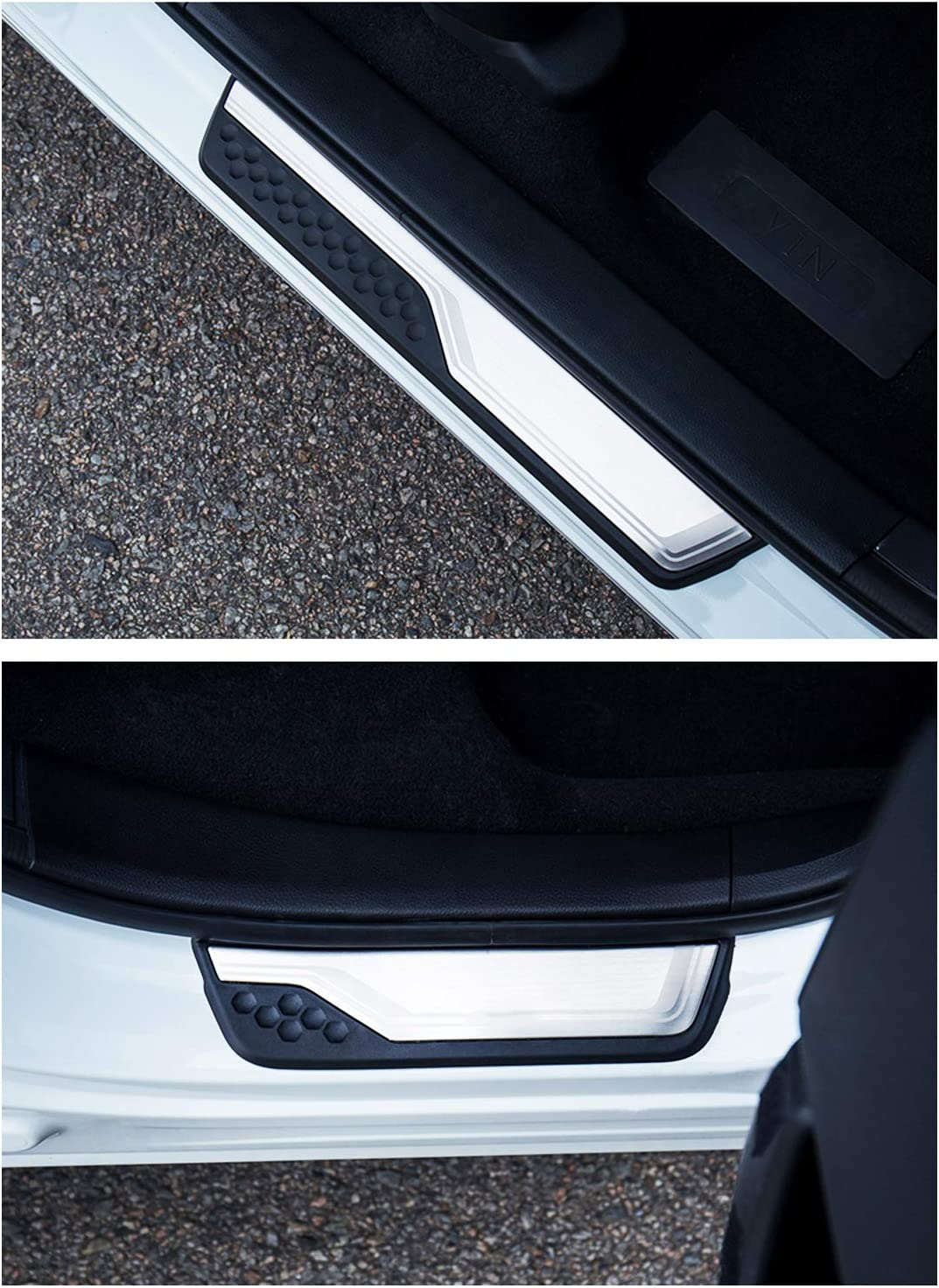 Outer LED Blue Light Door Sill Scuff Plate Guards Fit For Honda CR-V 2019 2020
