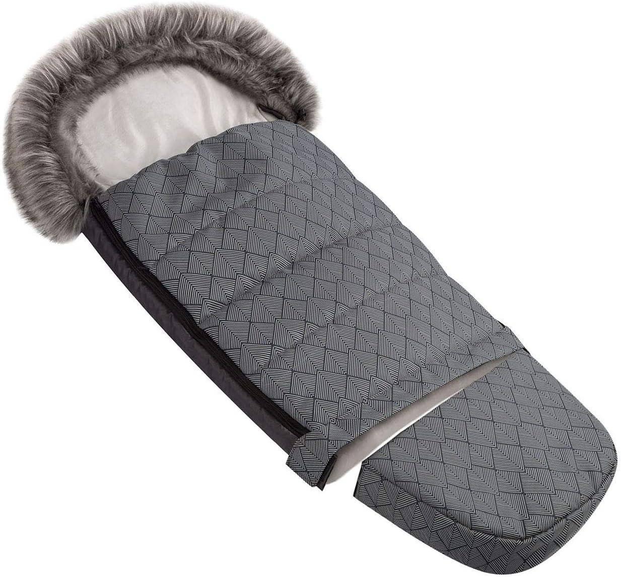 071 Chanceli/ère universelle pour poussette dhiver pour coque b/éb/é sac de couchage footmuff camouflage avec capuche Foug/ères