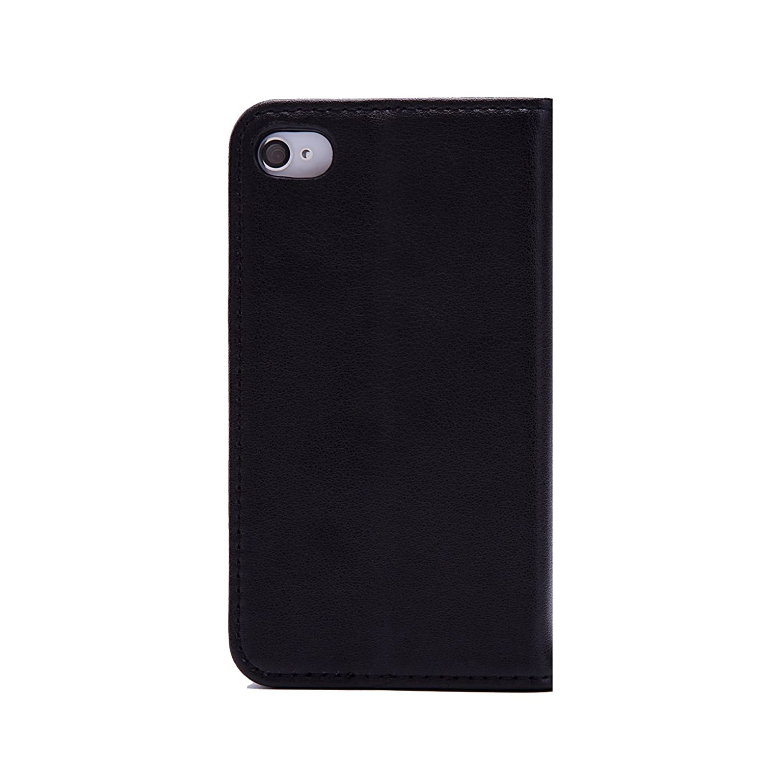 f12d89fb11 32nd Classic Series - Real Leather Book Wallet Case Cover for Apple iPhone  4 & 4S, Real Leather Design with Card Slot, Magnetic Closure and Built in  Stand - ...