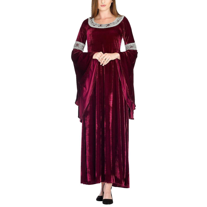 Herr der Ringe Arwen Königinnen Kleid Elben Gewand Kostüm Kostüm Kostüm Roter Samt mit Spitze Bei Elbenwald e752ab
