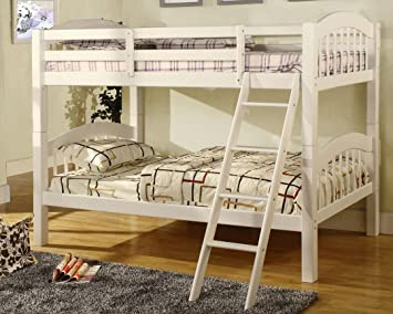 Amazon.com: Coney Island White Finish Twin Size Bunk Bed.: Kitchen ...