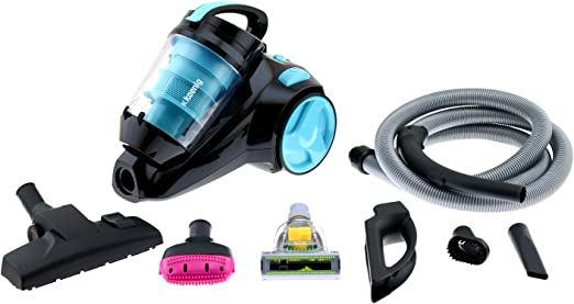 H.Koenig SLS890 - Aspirador sin bolsa multiciclónico silencioso +, Especial para Mascotas, 74 db , Filtro HEPA, Capacidad 2.5 l, Color Azul: Amazon.es: Hogar
