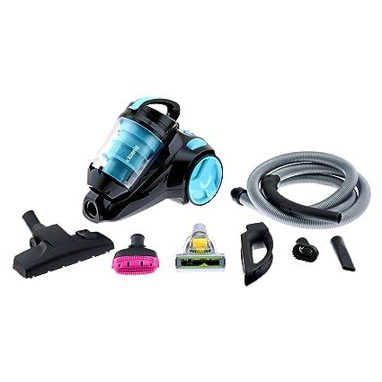 H.Koenig SLS890 - Aspirador sin bolsa multiciclónico silencioso +, Especial para Mascotas, 74 db , Filtro HEPA, Capacidad 2.5 l, Color Azul