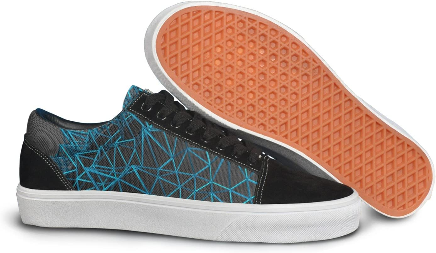 VCERTHDF Print Trendy Geometric Stereoscopic 3d Low Top Canvas Sneakers