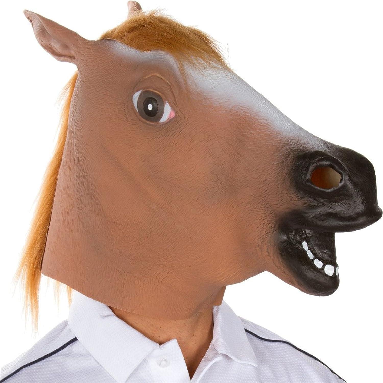 Amazon.com: Youareking&reg Halloween Creepy Adult Horse head latex ...