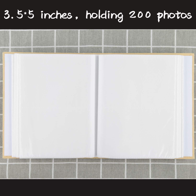 NLC Big Photo Album Baby Journal Photo Album 5x7 inches,100 Photos Childrens Pictures Album,Family Photo Album,Wood