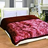 Ab Home Decor Super Soft Microfibre Heavy Quilt razai for Winter- Double Bed-Maroon