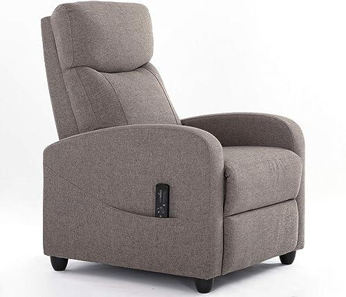 Recliner Chair Massage Single Sofa Living Room Fabric Armchair