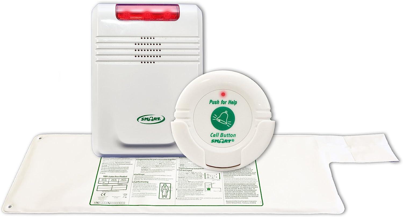 Cordless, Wireless Bed Alarm Alert System - No Alarm in Patient's Room (10