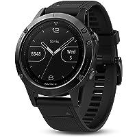 Garmin Fēnix 5 Gray - Montre GPS Multisports Outdoor - Bracelet Noir (Reconditionné Certifié)