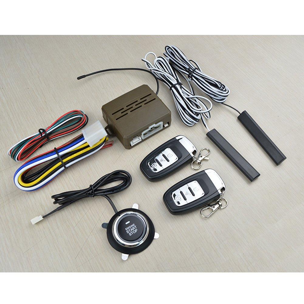 Car Alarm Start Security System Qiyun 12v Universal 1951 Ferrari Wiring Harness 8pcs Pke Induction Anti Theft Keyless Entry Push Button Remote Kit Electronics