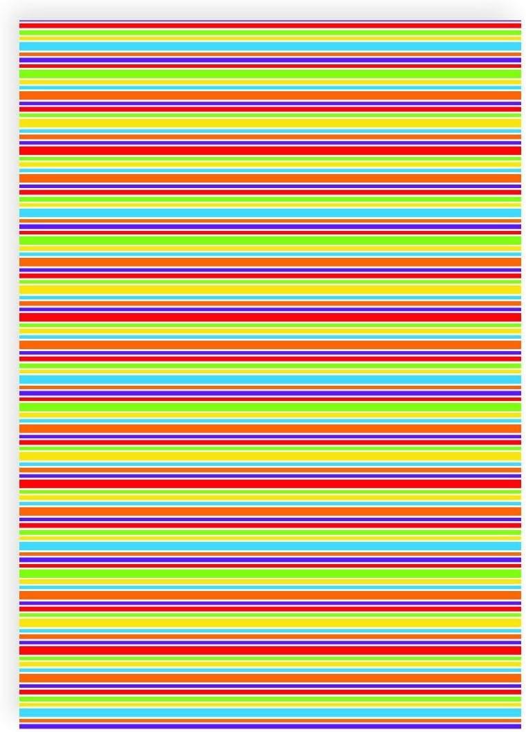 Flex pantalla rayas multicolor unregelmäßig – Din A4 arco – Pantalla para plotter – Plancha pantalla: Amazon.es: Hogar