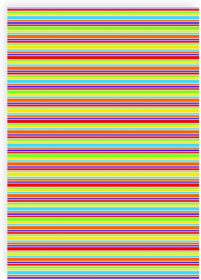 Flex pantalla rayas multicolor unregelmäßig – Din A4 arco ...