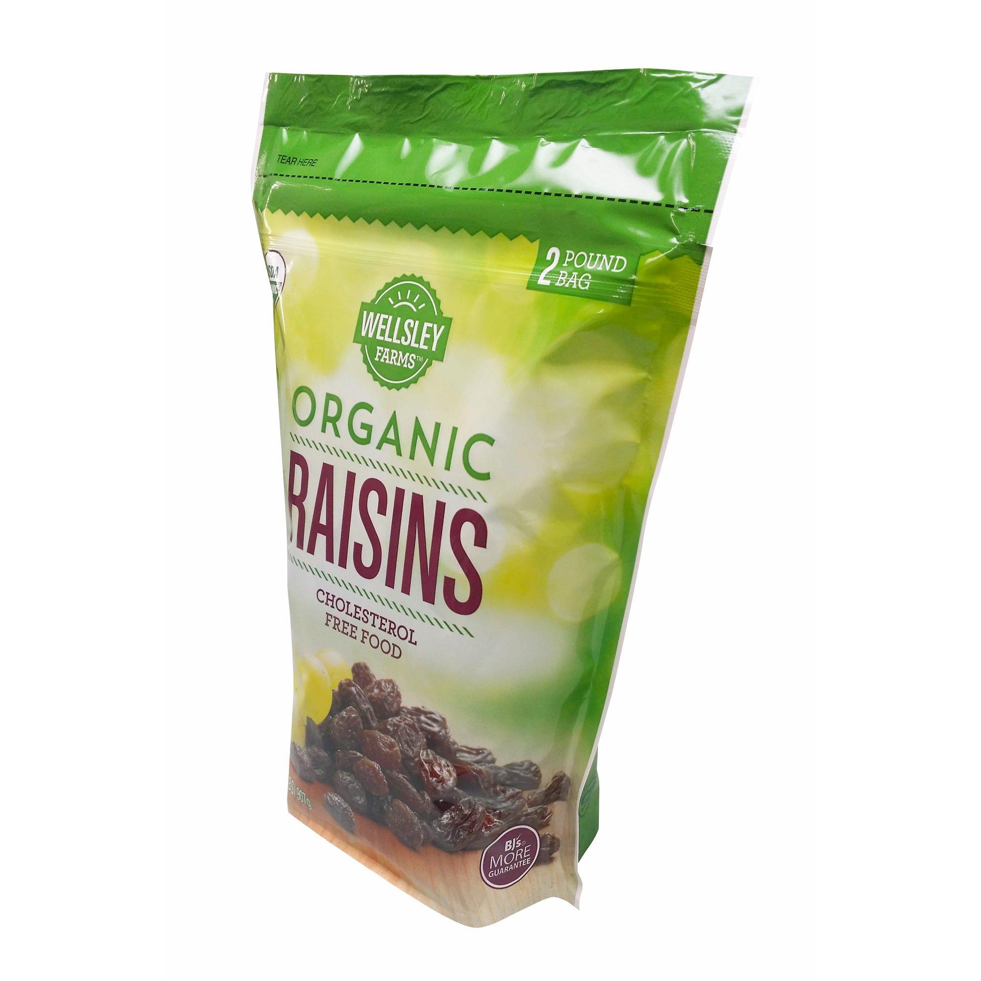 Wellsley Farms Organic Raisins, 2 lb.
