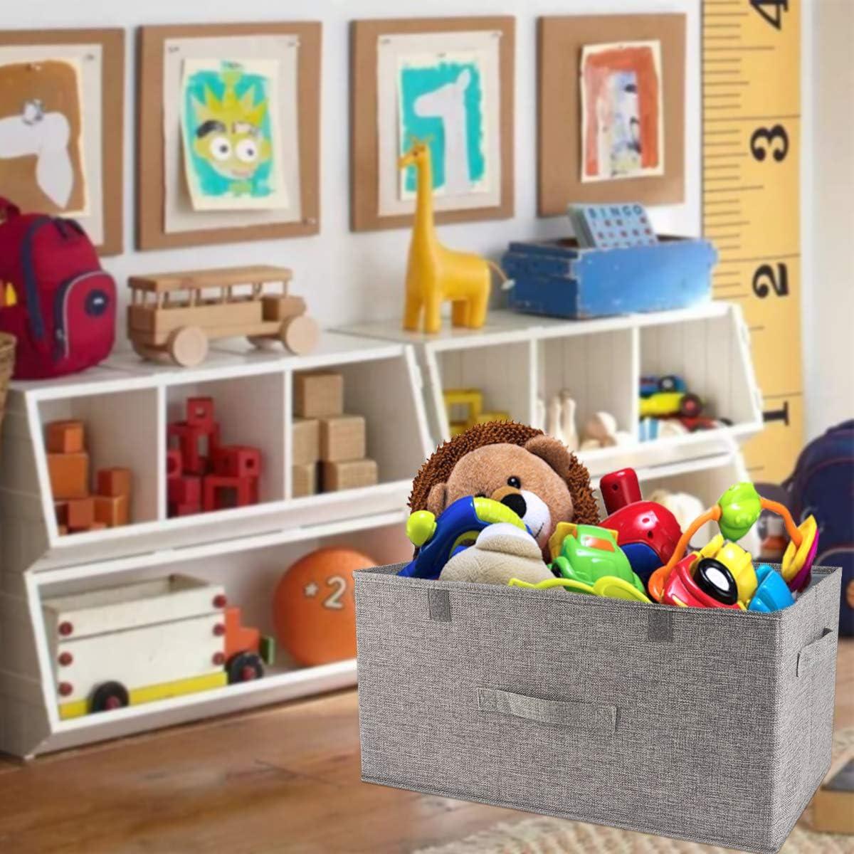 Organizador de ropa cajas de almacenamiento con separadores extra/íbles,caja de almacenamiento de ropa con espacio de gran tama/ño