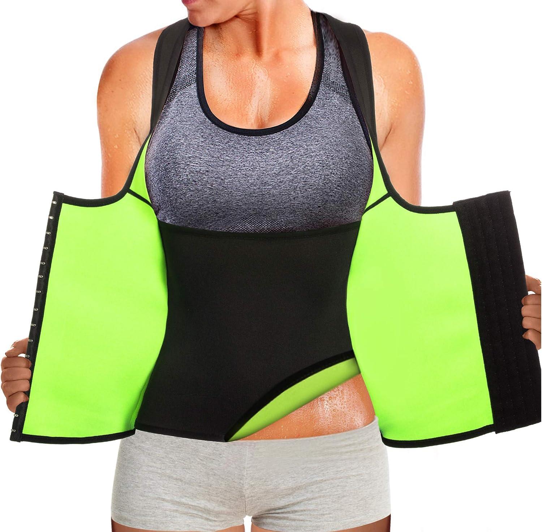 Joyleah 3Pcs Slimming Fitness Sportswear Waistbelt Pants Vest Set