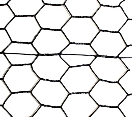Amazon.com : Fence: Black Vinyl Coated Galvanized Wire Animal ...
