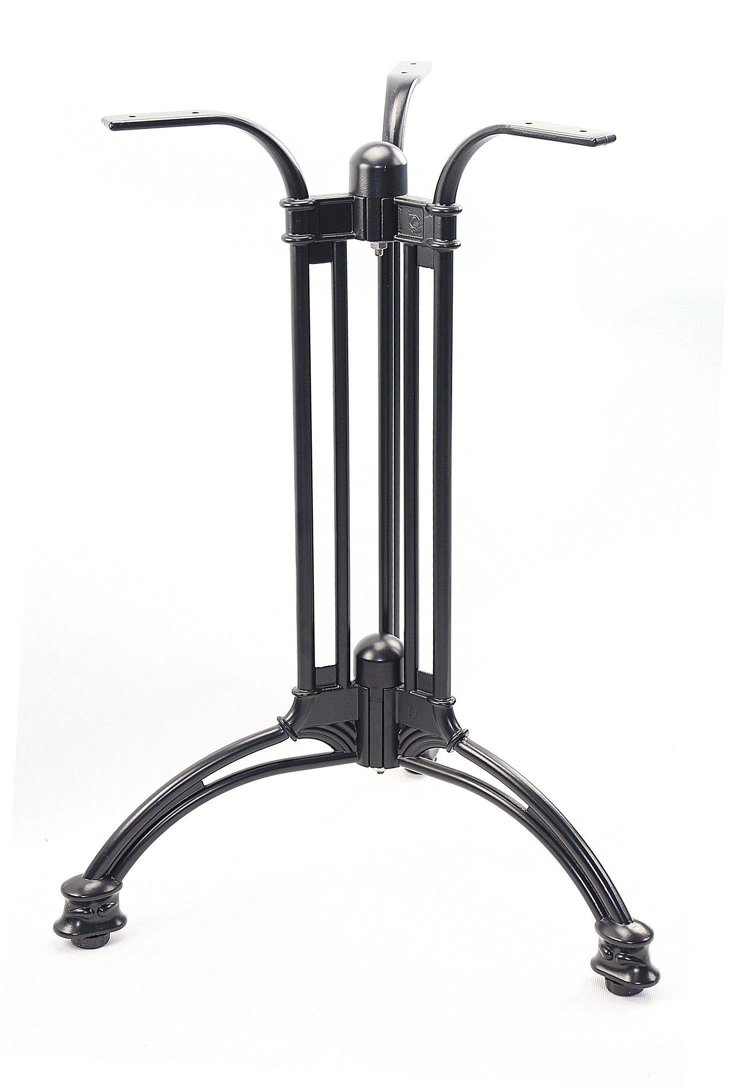 Mrhardware Cast Aluminum Table Leg Table Base Oining Black(3-LEGS)