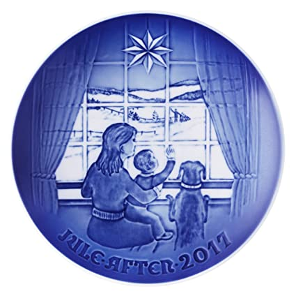 bing grondahl 1021113 christmas plate 2017 waiting for dad - Bing And Grondahl Christmas Plates