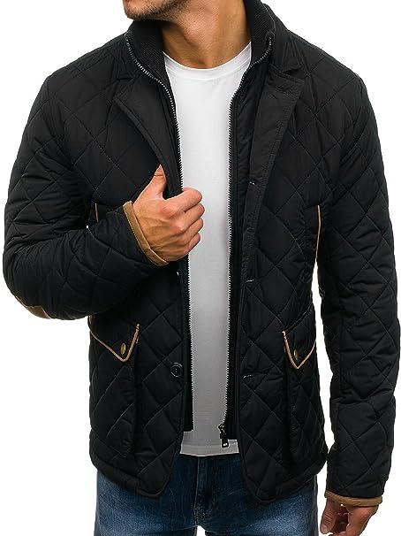 BOLF Hombre Chaqueta de Entretiempo J.Style 3086 Negro M ...