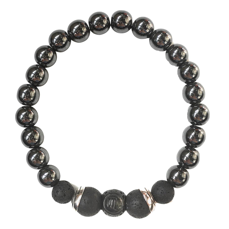 Stretch Bracelet Bead Bracelet Scorpio Gemstone Bracelet with Zodiac Charm October Birthday, Gemstone Mala Bracelet November Birthday