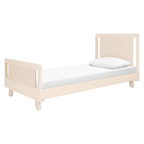 Babyletto Hudson Platform Twin Bed in Washed Natural, Mattress Support Slats Included, No Box Spring Needed