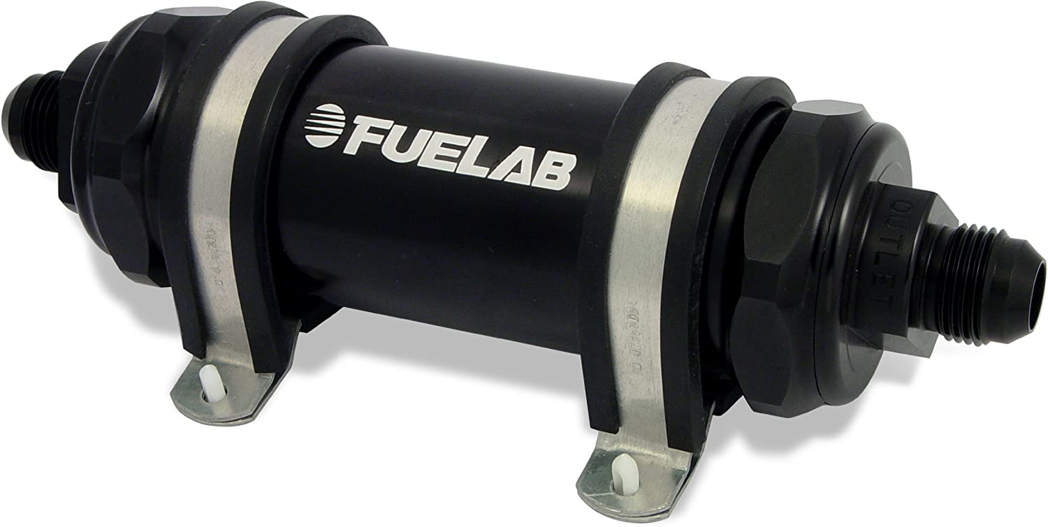 Fuelab 81831-1 Fuel Filter 818 Series In-Line ; Standard Length; 6 Micron Fiberglass Element
