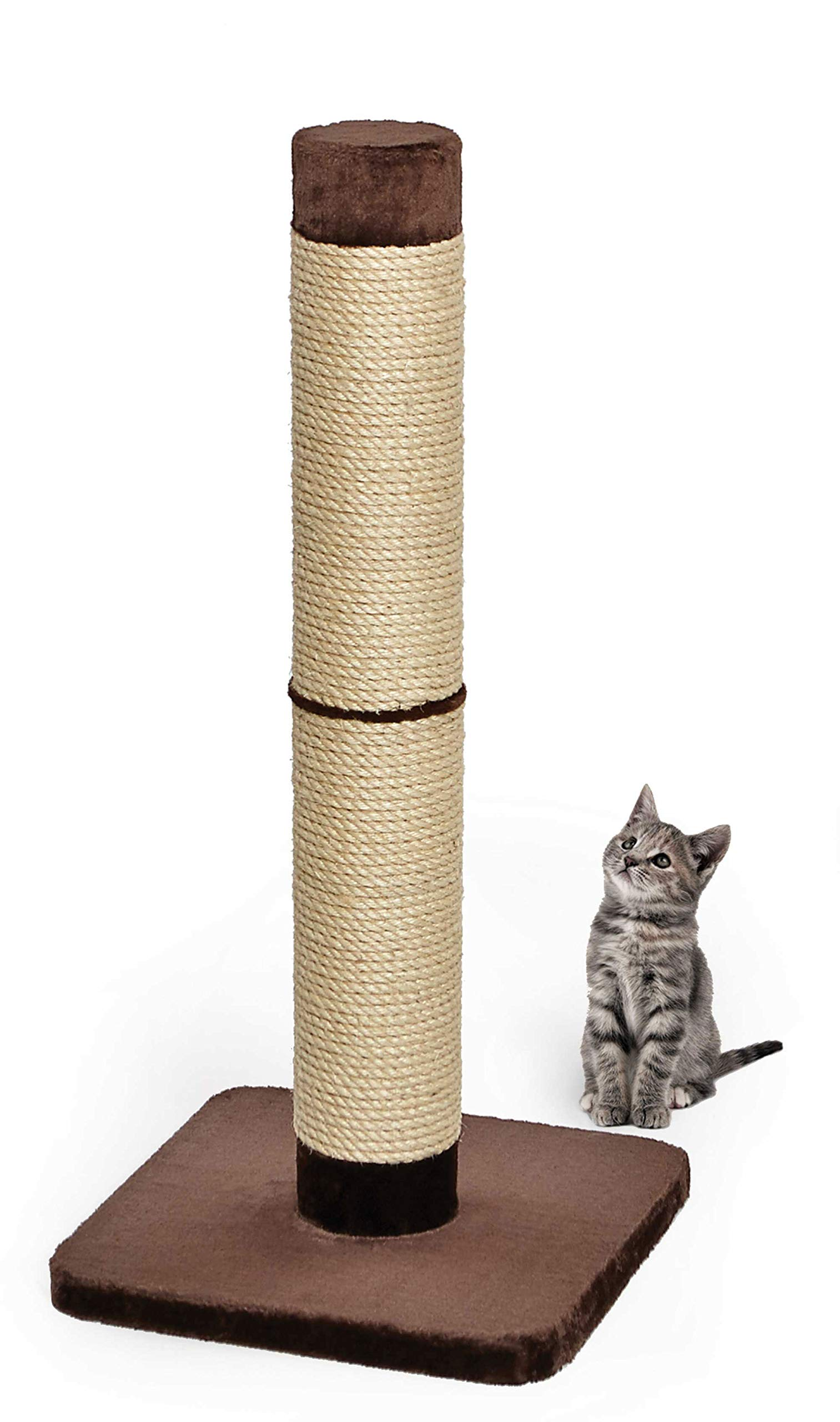 MidWest Homes for Pets Cat Scratching Post   Forte Huge Cat Scratching Post w/Extra-Durable Sisal Wrap, Brown & Tan, Giant XXL Cat Post by MidWest Homes for Pets