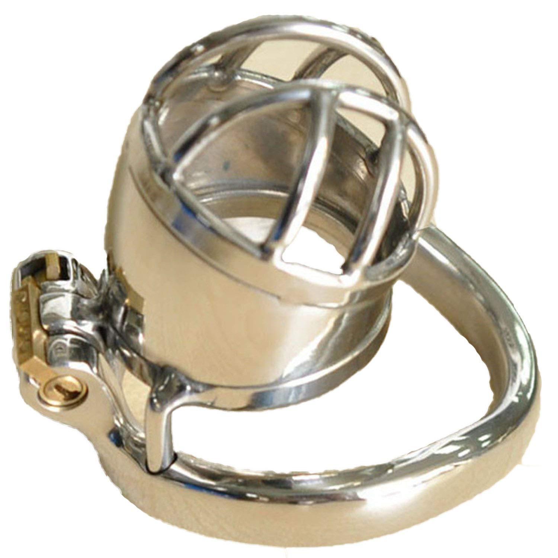 TShirt+TJAZV Adūlt Games Stainlešs Steel Male Chá-štity Dēvicē Lockable Small PênǐšCàge C-ōck Rīng Sleeve C-ōckRīng Sexanl Toys for Men,45Mm