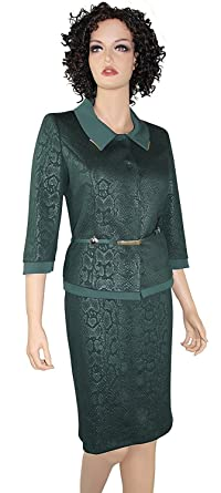 Amazon Com Belted Womens Business Suit Dark Green Dress Suits